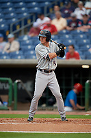 Lakeland Flying Tigers Brock Deatherage (14) at bat during a Florida State League game against the Clearwater Threshers on May 14, 2019 at Spectrum Field in Clearwater, Florida.  Clearwater defeated Lakeland 6-3.  (Mike Janes/Four Seam Images)