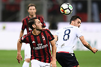 Hakan Calhanoglu-Luca Cigarini<br /> Milano 27-08-2017 Stadio Giuseppe Meazza in San Siro Calcio Serie A<br /> 2017/2018 Milan - Cagliari Foto Imagesport/Insidefoto