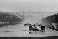 MONTREAL, CANADA - SEPTEMBER 27: Gilles Villeneuve drives his Ferrari F126CK 052/Ferrari 021 to third place in the 1981 Canadian Grand Prix FIA Formula One World Championship race at the Circuit Île Notre-Dame temporary circuit in Montreal, Canada, on September 27, 1981.