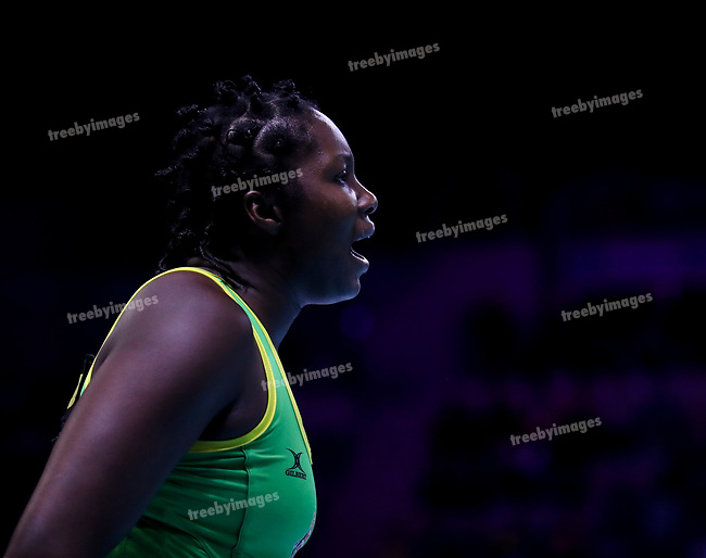 29/10/17 Fast5 2017<br /> Fast 5 Netball World Series<br /> Hisense Arena Melbourne<br /> Grand Final Jamaica v England<br /> <br /> Jhaneile Fowler-Reid<br /> <br /> <br /> <br /> <br /> Photo: Grant Treeby