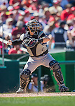 28 August 2016: Colorado Rockies catcher Tony Wolters in action against the Washington Nationals at Nationals Park in Washington, DC. The Rockies defeated the Nationals 5-3 to take the rubber match of their 3-game series. Mandatory Credit: Ed Wolfstein Photo *** RAW (NEF) Image File Available ***