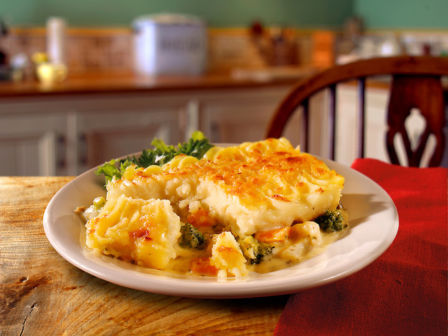 British Food - Creamy vegetable potato pie