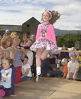 Michelle Clifford, Faha, Killarney,  from the Daly King school of Irish dancing  performing in the Munster Fleadh Cheoil na hEireann in Miltown Co. Kerry on Sunday afternoon.<br />