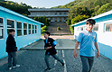 Movie set showing replica of Panmunjom truce village at Korean Film Council's Namyangju Studios