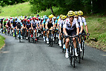 Team Sky with Vasil Kiryienka (BLR) on the front of the peloton during Stage 9 of the 104th edition of the Tour de France 2017, running 181.5km from Nantua to Chambery, France. 9th July 2017.<br /> Picture: ASO/Alex Broadway | Cyclefile<br /> <br /> <br /> All photos usage must carry mandatory copyright credit (&copy; Cyclefile | ASO/Alex Broadway)