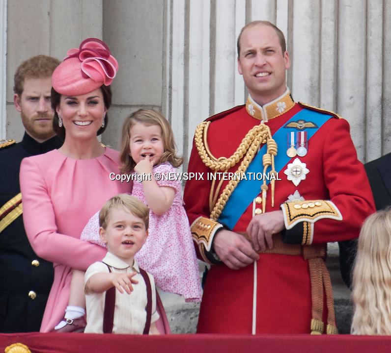 Princess Charlotte & Prince George At Trooping the Colour2