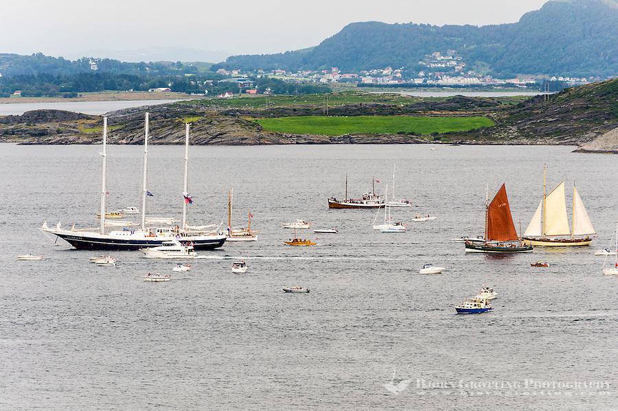 Norway, Randaberg. Tall Ships Race in Stavanger 2011. Goodbye, fare thee well! Eendracht.