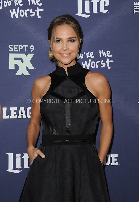 WWW.ACEPIXS.COM<br /> <br /> September 8 2015, LA<br /> <br /> Actress Arielle Kebbel arriving at the premiere of FXX's 'The League' Final Season and 'You're The Worst' 2nd Season at the Regency Bruin Theater on September 8, 2015 in Westwood, California.<br /> <br /> <br /> <br /> By Line: Peter West/ACE Pictures<br /> <br /> <br /> ACE Pictures, Inc.<br /> tel: 646 769 0430<br /> Email: info@acepixs.com<br /> www.acepixs.com
