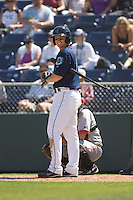 July 11, 2010: Everett AquaSox's Hawkins Gebbers (9) at-bat during a Northwest League game against the Spokane Indians at Everett Memorial Stadium in Everett, Washington.