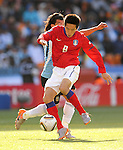 8 KIM Jung Woo during the 2010 World Cup Soccer match between Argentina vs Korea Republic played at Soccer City in Johannesburg, South Africa on 17 June 2010.  Photo: Gerhard Steenkamp/Cleva Media