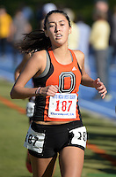 Nov 14, 2015; Claremont, CA, USA; Eva Towsend of Occidental (187) runs in the womens race during the 2015 NCAA Division III West Regionals cross country championships at Pomona-Pitzer College. (Freelance photo by Kirby Lee)
