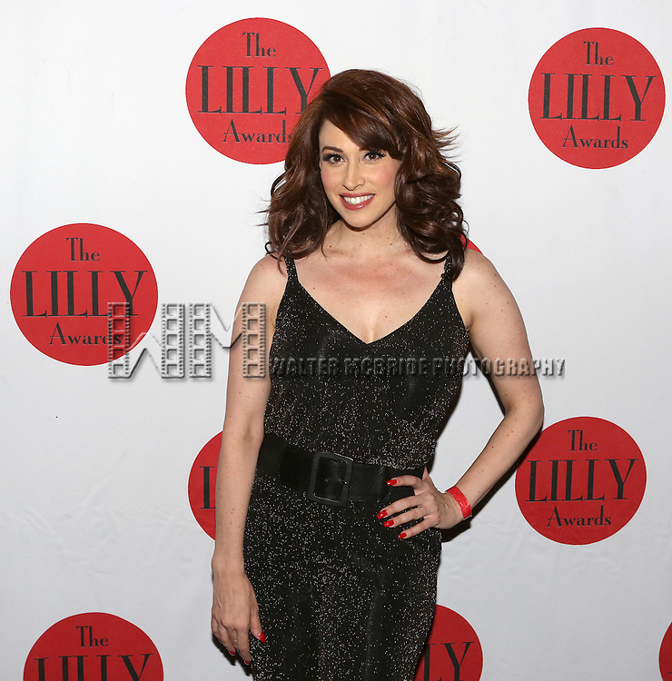 Lesli Margherita backstage at The Lilly Awards Broadway Cabaret'   at The Cutting Room on November 9, 2015 in New York City.