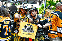 June 6, 2019: Fans gather outside TD Garden before game 5 of the NHL Stanley Cup Finals between the St Louis Blues and the Boston Bruins held at TD Garden, in Boston, Mass. Eric Canha/CSM