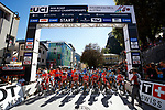 Ready to start the Men Junior Road Race of the 2018 UCI Road World Championships running 132.4km from Wattens to Innsbruck, Innsbruck-Tirol, Austria 2018. 27th September 2018.<br /> Picture: Innsbruck-Tirol 2018/BettiniPhoto | Cyclefile<br /> <br /> <br /> All photos usage must carry mandatory copyright credit (© Cyclefile | Innsbruck-Tirol 2018/BettiniPhoto)