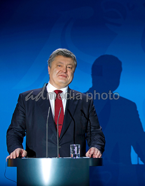 Press statement of the Chancellor Angela Merkel and Ukrainian President Petro Poroshenko at the Federal Chancellery in Berlin on 30 January 2017. Worrying is the fighting in eastern Ukraine, which have increased again since the introduction of the new American President Trump. Photo Credit: Stocki/face to face/AdMedia
