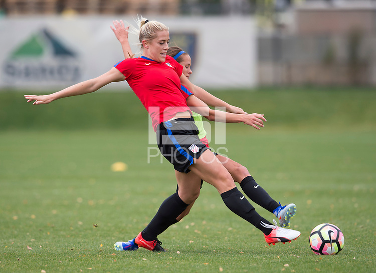 Sandy, UT - October 16, 2016: The USWNT trained in preparation for their friendly against Switzerland at Rio Tinto Stadium.