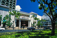 The Galleria is must stop place to shop on busy Kalakaua ave. near Waikiki Beach.