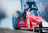 Oct 12, 2019; Concord, NC, USA; NHRA top fuel driver Doug Kalitta during qualifying for the Carolina Nationals at zMax Dragway. Mandatory Credit: Mark J. Rebilas-USA TODAY Sports
