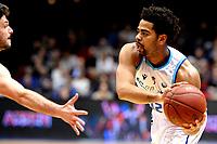 GRONINGEN - Basketbal, Donar - Apollo , Martiniplaza, Dutch Basketbal League seizoen 2019-2020, 18-1-2020,  Donar speler Carrington Love in duel met Apollo speler Noam Hasson