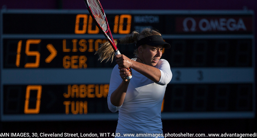Sabine Lisicki - Germany..Tennis - OLympic Games -Olympic Tennis -  London 2012 -  Wimbledon - AELTC - The All England Club - London - Friday 29th June  2012. .© AMN Images, 30, Cleveland Street, London, W1T 4JD.Tel - +44 20 7907 6387.mfrey@advantagemedianet.com.www.amnimages.photoshelter.com.www.advantagemedianet.com.www.tennishead.net
