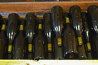 old bottles in the cellar domaine huguenot p & f marsannay cote de nuits burgundy france
