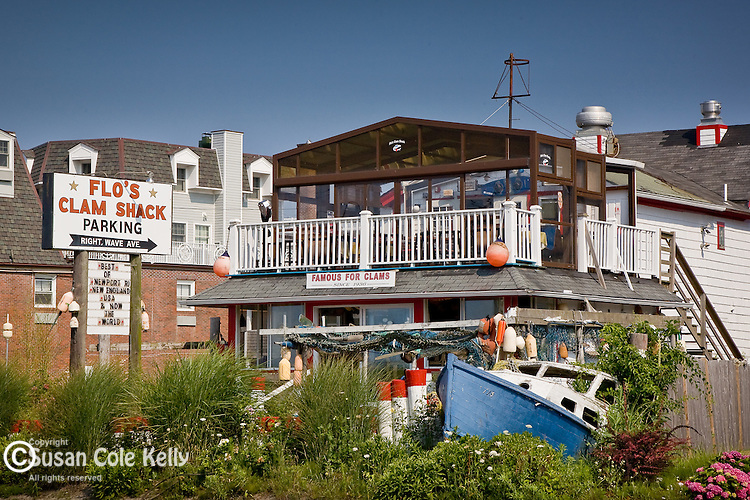 Flo's Clam Shack in Middletown, Narragansett Bay, RI, USA
