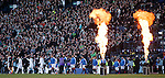 Rangers and Celtic walk out at Hampden