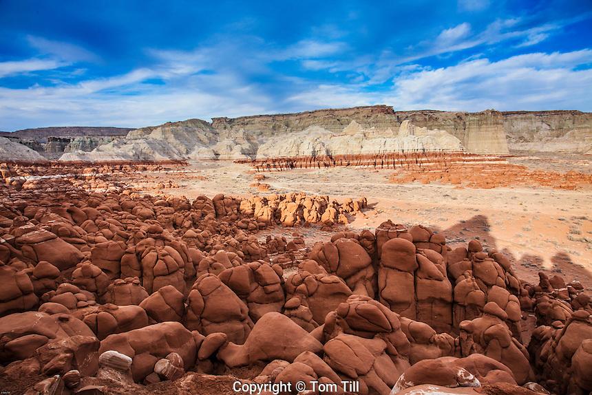 Rocks at Blue Mesa, Hopi Reservation, Arizona,