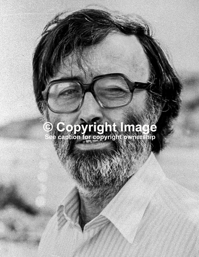 Des O'Hagan, Belfast, N Ireland, lecturer, Stranmillis College, director of education, Workers' Party Republican Clubs, 19790084b<br />