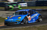 19 March 2011: The #63 Porsche of Richard Lietz, Gianluca Roda , and Christian Ried leads another car during the 12 Hours of Sebring, Sebring Internatonal Raceway, Sebring, FL. (Photo by Brian Cleary/www.bcpix.com)