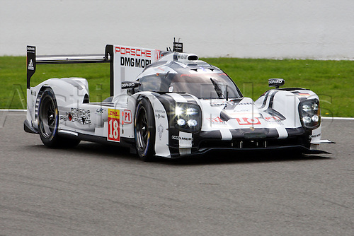 02.05.2015.  Spa-Francorchamps, Belgium. World Endurance Championship Round 2. Porsche Team LMP1 Hybrid Porsche 919 driven by Romain Dumas, Neel Jani and Marc Lieb.