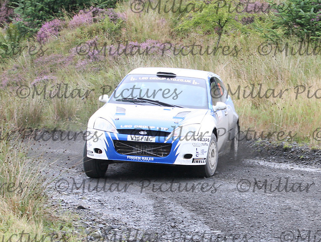 Euan Thorburn - Paul Beaton at Junction 3 on Special Stage 4 J & B Print Arroch Hill of the GWF Energy Merrick Stages Rally 2013, Round 7 of the RAC MSA Scotish Rally Championship which was organised by Machars Car Club and Scottish Sporting Car Club and based in Wigtown on 7.9.13.