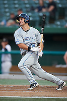 West Michigan Whitecaps outfielder Jeff McVaney #25 during a Midwest League game against the South Bend Silver Hawks at Coveleski Stadium on August 15, 2012 in South Bend, Indiana.  West Michigan defeated South bend 7-1.  (Mike Janes/Four Seam Images)