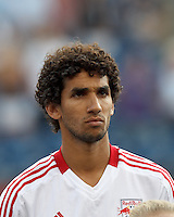New York Red Bulls midfielder Mehdi Ballouchy (10). In a Major League Soccer (MLS) match, New England Revolution defeated New York Red Bulls, 2-0, at Gillette Stadium on July 8, 2012.