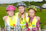The Blasczyk Family from Tralee ready for the road in the Wetlands as they participate in the Pedal in the Park on Friday.L-r, Ola, Patrycja and Marzen Blasczyk.
