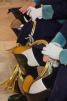 Europe/France/Centre/41/Loir-et-Cher/Sologne/Bauzy: Messe de la Saint-Hubert avec bénédiction des chiens - Equipage de Chasse à Courre: Equipage dela Forêt des Loges