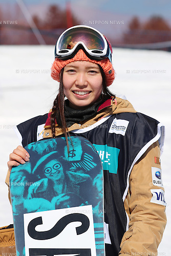 Haruna Matsumoto (JPN), <br /> FEBRUARY 17, 2017 - Snowboarding : <br /> FIS Snowboard World Cup <br /> Women's Halfpipe Qualification<br /> at Bokwang Phoenix Park, PyeongChang, South Korea. <br /> (Photo by YUTAKA/AFLO SPORT)
