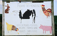 Europe/France/Ile-de-France/77/Seine-et-Marne : Enseigne de la ferme de Moneuse