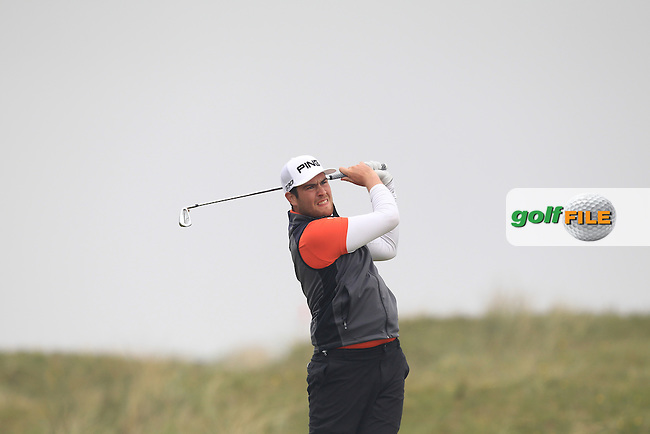 Sam Whitaker (ENG) on the 4th tee during Round 3 of the Flogas Irish Amateur Open Championship at Royal Dublin on Saturday 7th May 2016.<br /> Picture:  Thos Caffrey / www.golffile.ie