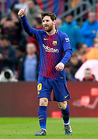 FC Barcelona's Leo Messi celebrates goal during La Liga match. March 4,2018. (ALTERPHOTOS/Acero) /NortePhoto.com NORTEPHOTOMEXICO