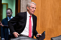 United States Senator Rob Portman (Republican of Ohio) prior to introducing Kirstjen Nielsen during her confirmation hearing to be US Secretary of Homeland Security before the US Senate Homeland Security and Government Affairs Committee on Capitol Hill in Washington, D.C. on November 8th, 2017. <br /> Credit: Alex Edelman / CNP /MediaPunch