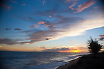 Sunset with Ni'Ihau and Lehua Islands in distance, Kauai, Hawaii