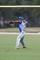 C.J. Bryant, Jr. (4) of Gardenale, Alabama during the Baseball Factory All-America Pre-Season Rookie Tournament, powered by Under Armour, on January 13, 2018 at Lake Myrtle Sports Complex in Auburndale, Florida. (Michael Johnson/Four Seam Images)
