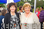 Josie McCarthy (Killarney) and Mary Ryan Whelan (1969 Limerick Rose) pictured at the unveiling of the Rose monument in Tralee Town Park on Thursday.