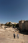 Israel, Jerusalem, East Jerusalem, the plaza in front of Damascus Gate<br />