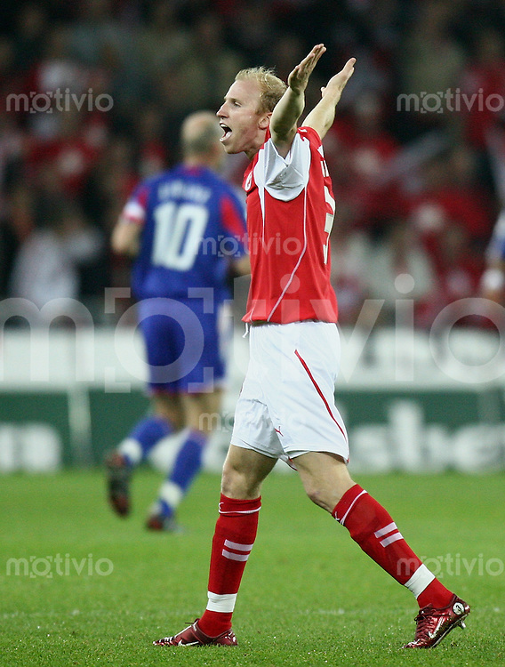 Fussball International WM Qualifikation Schweiz 1-1 Frankreich JUBEL SUI, Ludovic Magnin