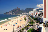 BRAZIL, Rio de Janiero, a view of Ipanema Beach which is located bewteen Leblon and Arpoador
