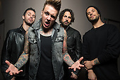 Mar 07, 2015: PAPA ROACH - Photosession in Paris France
