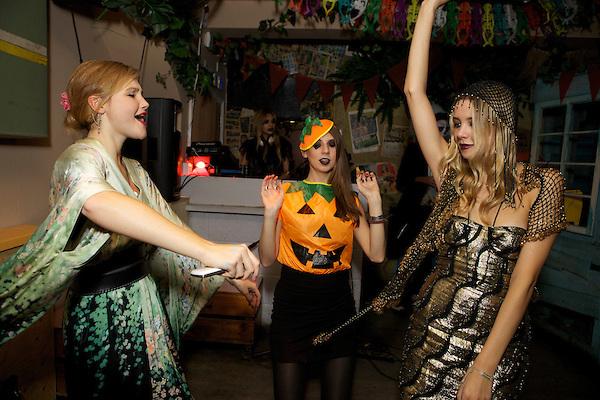 Amber Atherton at The Myflashtrash Halloween Party at Barrio, Soho, London