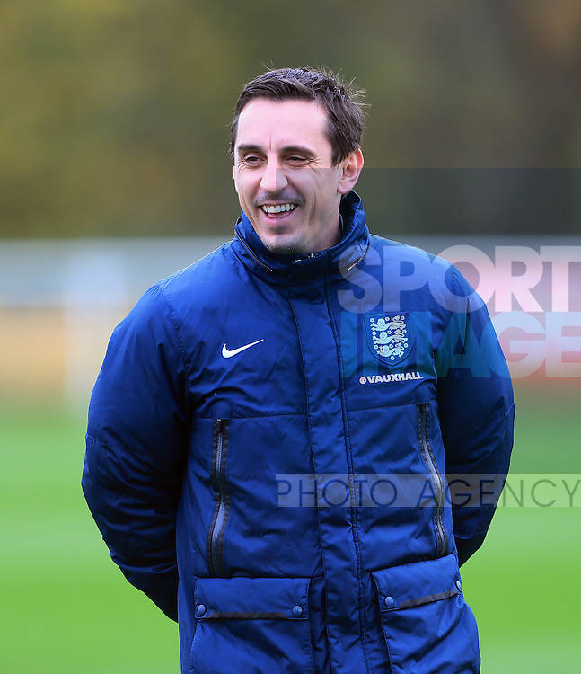 England's Gary Neville during training<br /> <br /> England Training - Tottenham Hotspur Training Ground - England - 16th November 2015 - Picture David Klein/Sportimage